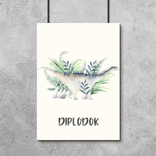 Plakat dla chłopca - dinozaur