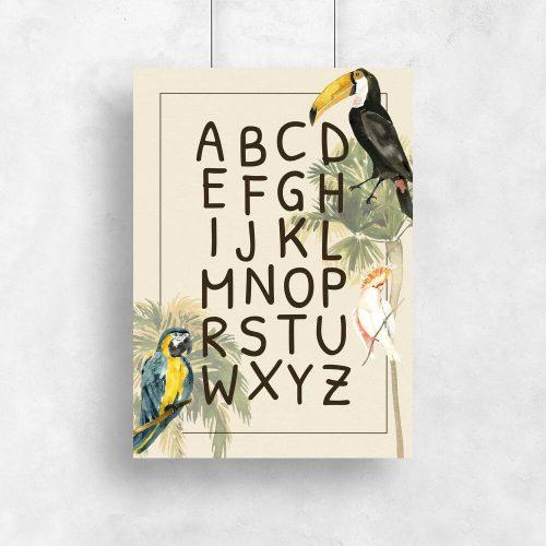 edukacyjny plakat z alfabetem dla dzieci