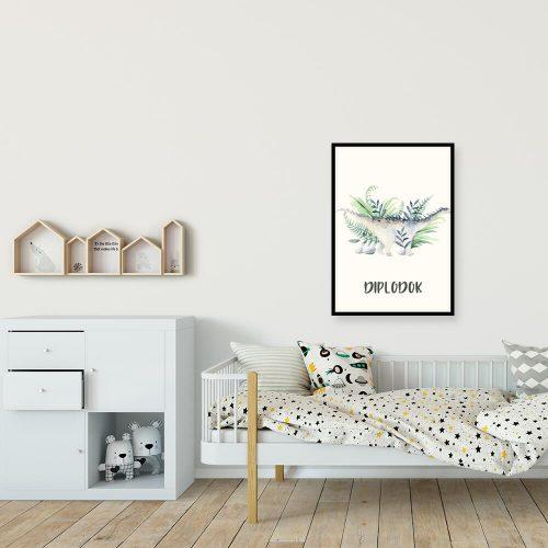 Plakat do pokoju chłopca z dinozaurem