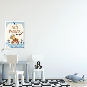 Dedykowany plakat na drzwi dla chłopca
