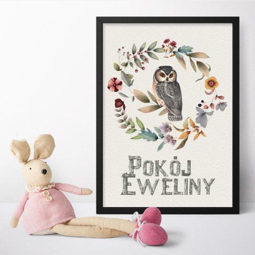 Plakat z napisem pokój Eweliny