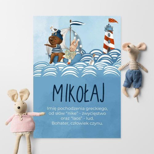 Dedykowany plakat z historią imienia dla dzieci