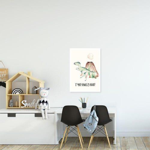 Plakat do pokoju rodzeństwa - Tyranozaur