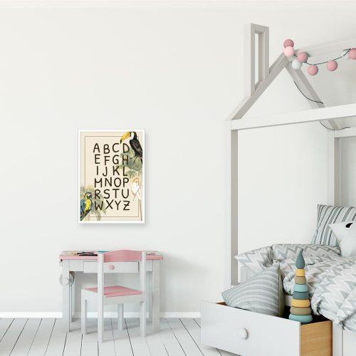 zielone palmy na dydaktycznym plakacie do pokoju dla ucznia
