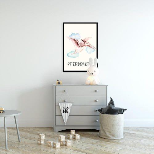 Plakat dla chłopca - Pterodaktyl