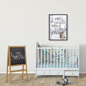Plakat do pokoiku dziecięcego - Nauka alfabetu