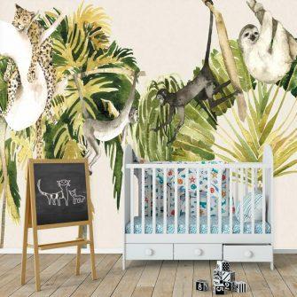 Fototapeta z małpkami do pokoiku dziecka