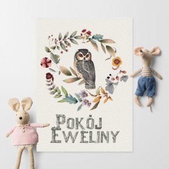 Plakat pokój Eweliny