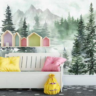 Fototapeta z lasem do dziecięcego pokoju