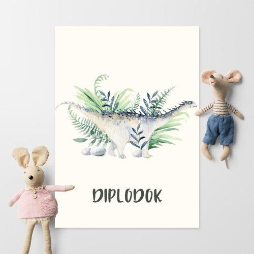 Plakat dla ucznia - Dinozaur