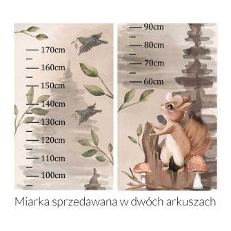 Beżowa miarka wzrostu dla dzieci - Wiewiórka