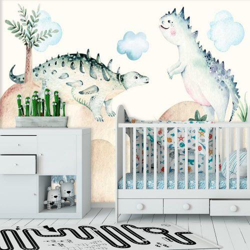 Foto-tapeta z dinozaurami do pokoiku dziecka