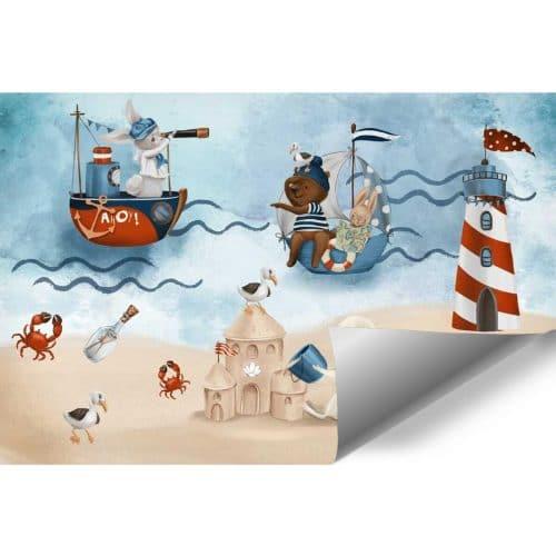 Foto-Tapeta dla dzieci Żeglujący Króliczek