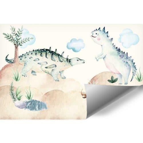 Foto-tapeta z dinozaurami dla dziecka