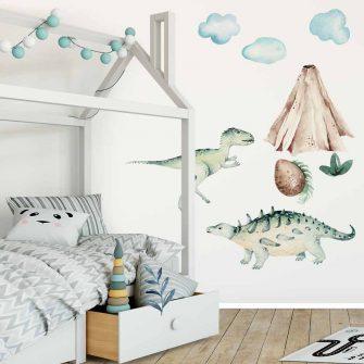 Bajkowe Dinozaury - Naklejki dla dzieci
