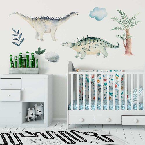 Bajkowe dinozaury - Zestaw naklejek dla dzieci