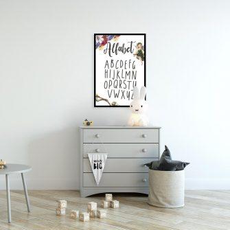 Plakat typografia dla dzieci