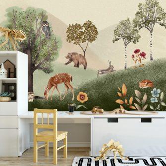 Foto-tapeta - fantastyczny las dla dzieci