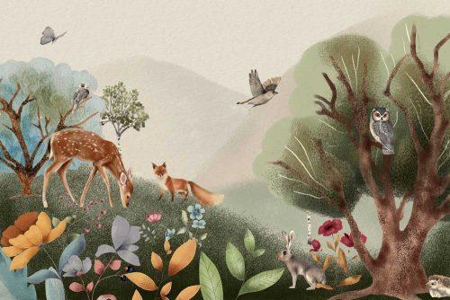 Fototapeta dziecięca z motywem lasu