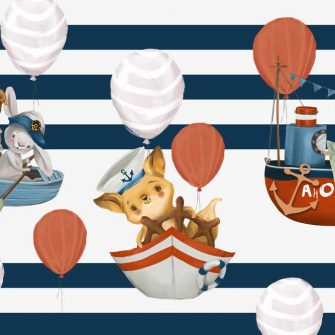 Marynarze i Baloniki - fototapeta dla dzieci