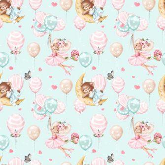Dziecięca fototapeta z różowymi balonami