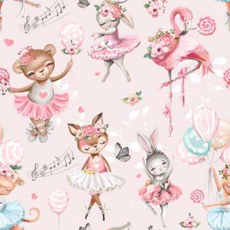 Różowa fototapeta dla dzieci - Flaming