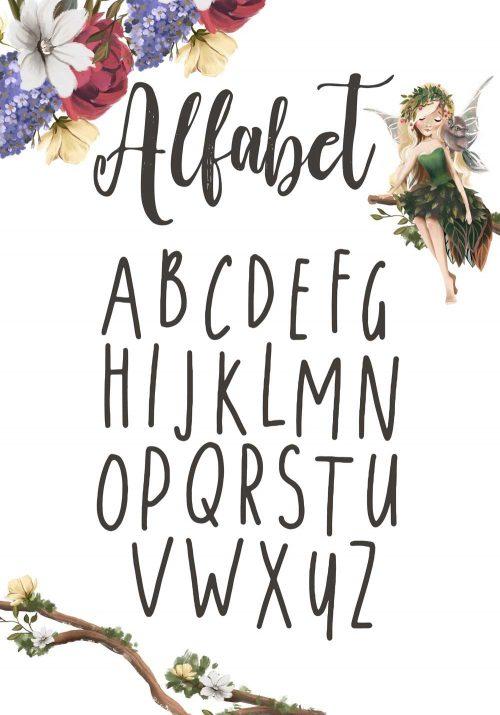 Plakat z alfabetem do pokoju dziecka