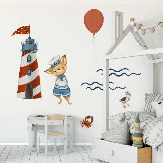 Naklejki dla dzieci z motywem marynarskim