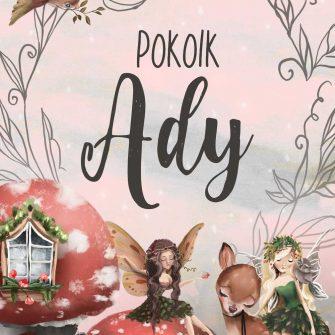 Plakat imienny dla dziewczynki - Bajkowy las