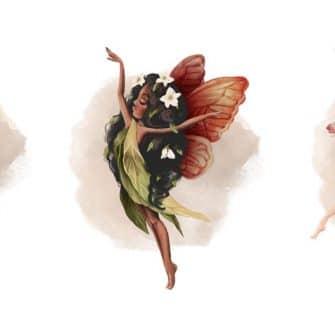 Tryptyk plakat nimfy leśne ze skrzydełkami