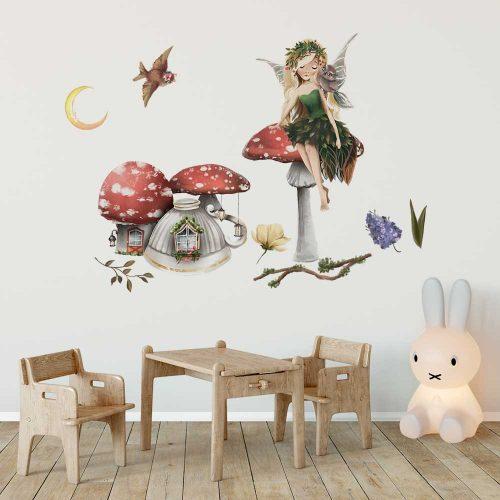 Kolorowe naklejki dla dzieci z magicznym motywem krainy wróżek