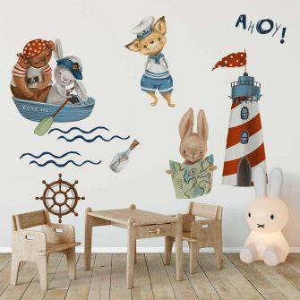 Naklejki marynarskie dla dziecka