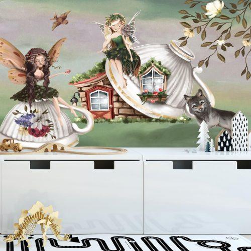 Leśne nimfy na fototapecie do pokoju dziecinnego