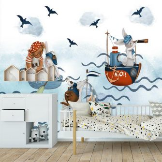 Fototapeta dla dzieci Żeglarze nad Oceanem