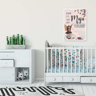Imienny plakat dla dzieci z wróżką