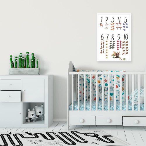 Plakat dla dzieci z cyframi