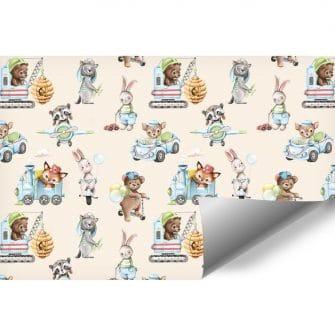 Foto-Tapeta dla dzieci ze Zwierzątkami