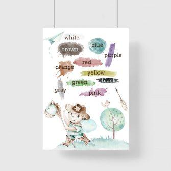 Plakat chłopięcy z kolorami