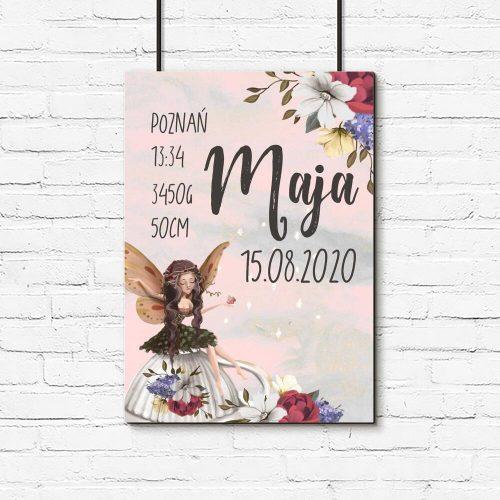 Plakat imienny dla dzieci - Wróżka na filiżance