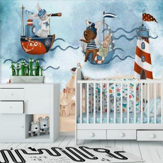Foto-Tapeta dla dzieci z Króliczkiem na Plaży