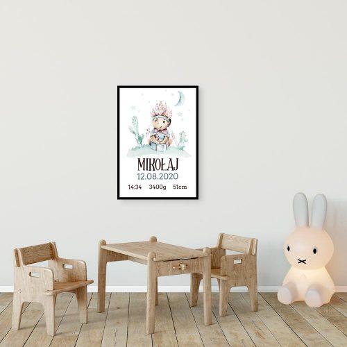 Plakat z imieniem dla niemowlaka