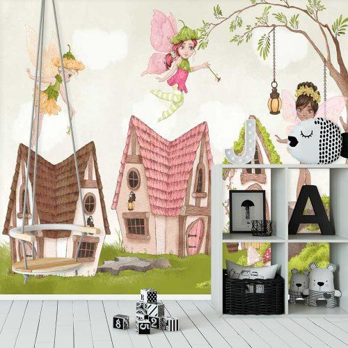 Dekoracja papierowa do pokoju dziewczynki z motywem czarodziejek