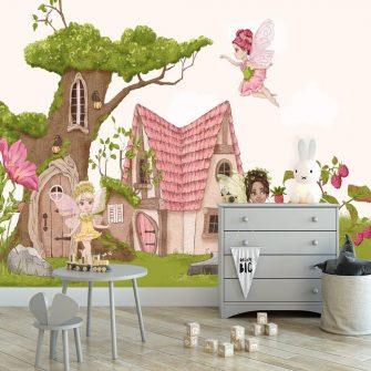 Foto-tapeta do pokoju dziecka z baśniowymi postaciami
