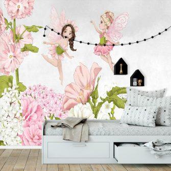 Fototapeta z kwiatami i wróżkami