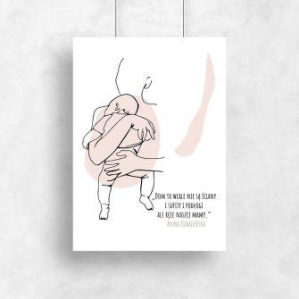 Plakat z sentencją o mamie do dziecinnego pokoju
