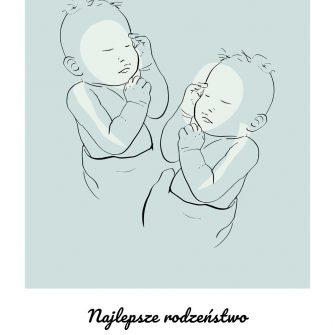 Nowoczesny plakat z motywem niemowląt line art