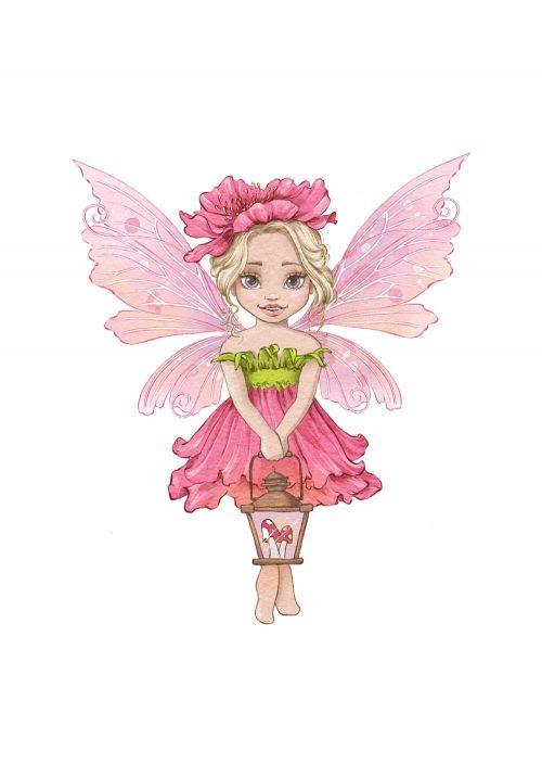 Różowy plakat do pokoju małej księżniczki