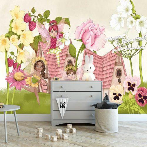 Kwiatowa tapeta do pokoju dziewczynki