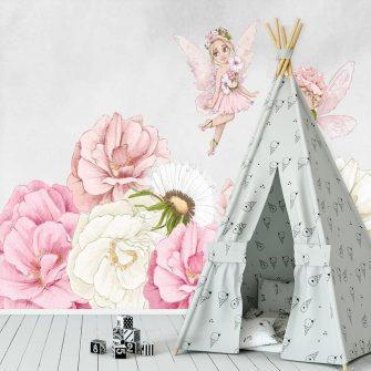 Dekoracja papierowa do pokoju dziewczynki