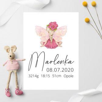 Plakacik dla Marlenki - tabliczka